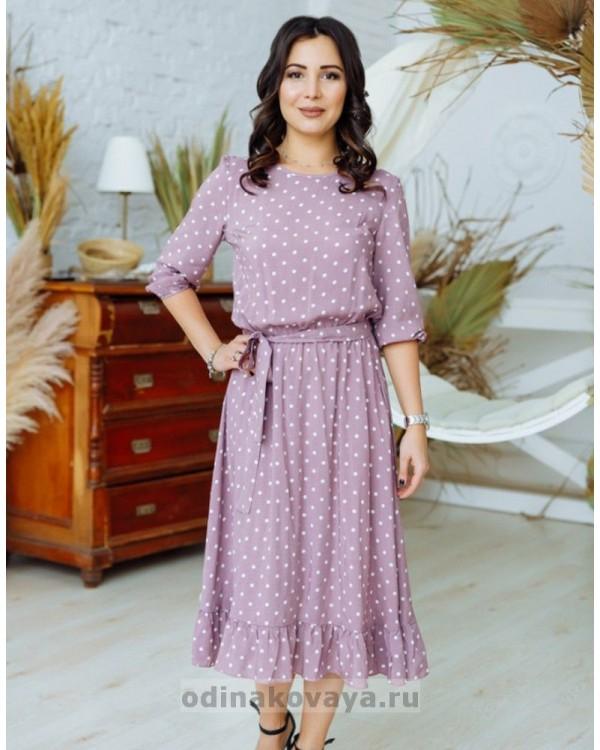 Комплект платьев из штапеля для мамы и дочки Мари М-2158 хаки