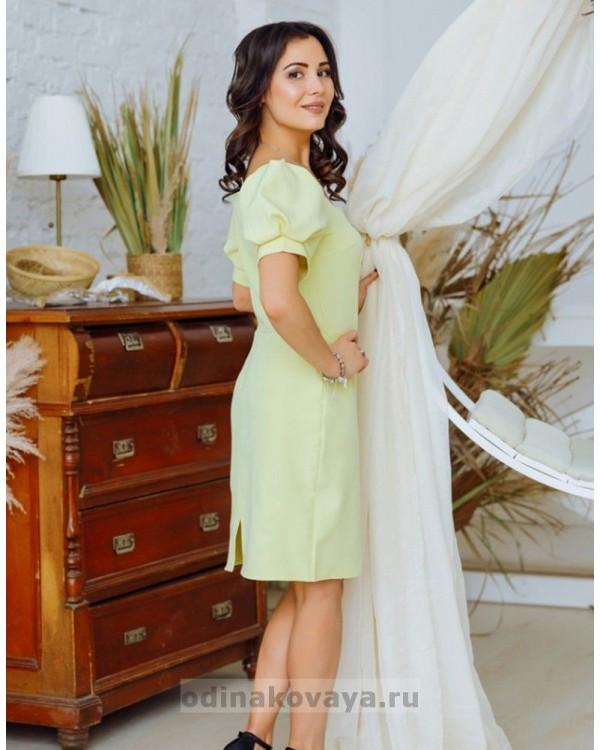 Комплект платьев в стиле Family Look Лайм М-2161 желтый