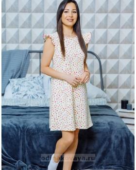 Домашнее платье свободного кроя Монпансье М-2125