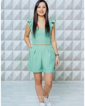 Стильный женский комплект шорты и топ Зара М-1129