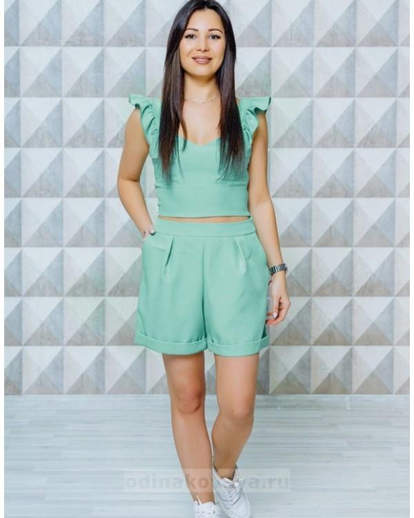 Стильный женский комплект шорты и топ Зара М-1129 цвет мятный