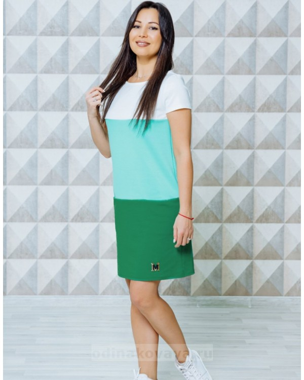 Спортивное платье Триада М-2130 цвет зеленый