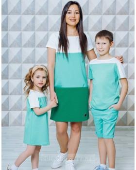 Летний комплект одежды для мамы и сына Триада М-2130