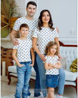 Комплект футболок для всей семьи Собачки М-2166