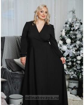 Платье на запах Макси PLUS М-1058