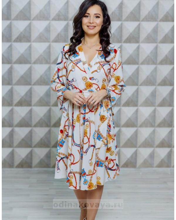 Платье с расклешенными рукавами Кимоно М-1123