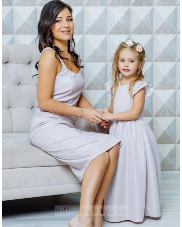 Комплект нарядных платьев для мамы и дочки Джесика М-2052