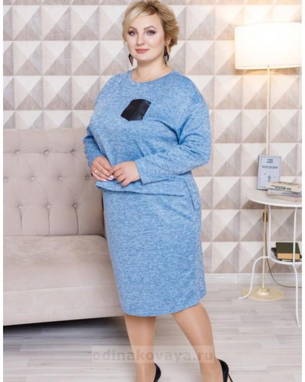 Комплект в стиле Family Look для мамы и дочки Меланж М-2103 Цвет::голубой