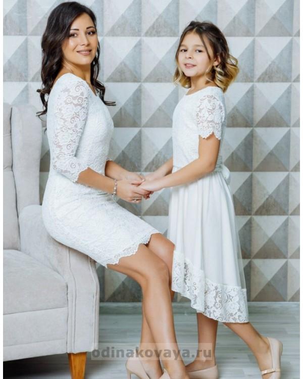 Нарядные платья в одном стиле для мамы и дочки Беверли М-2105