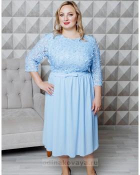 Нарядное платье-миди Флёр PLUS М-2108
