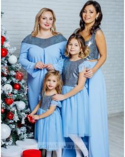 Вечерний комплект для мамы и дочки Ариэль М-2110