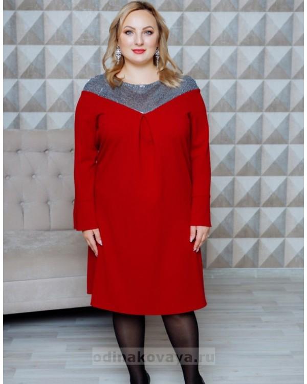 Нарядное платье с пайетками Ариэль PLUS М-2110