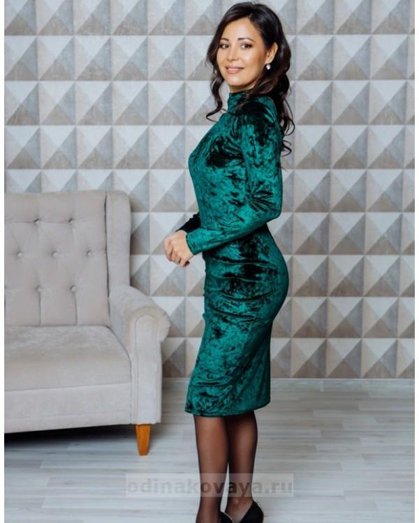 Бархатное платье с открытой спиной Гламур М-2111