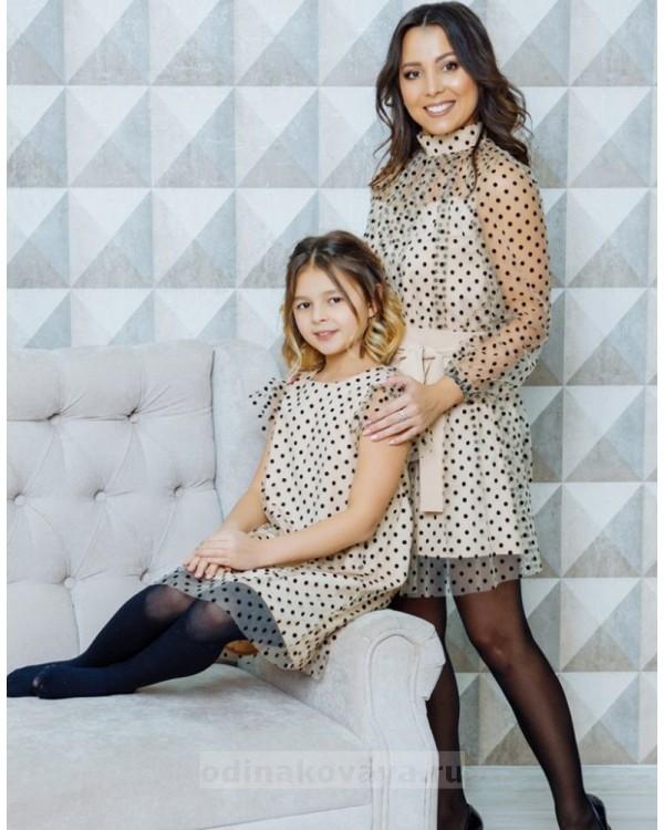 Комплект платьев для мамы и дочки Сити М-2112