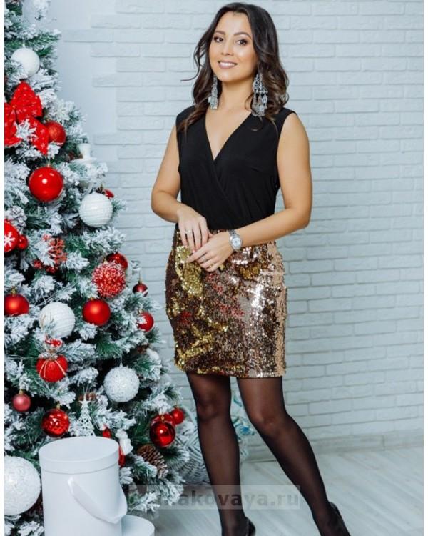 Комплект в стиле Family Look платье для мамы и топ для дочки Бурлеск М-2113