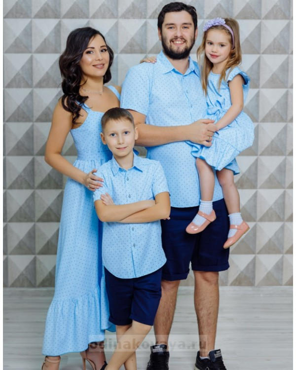 Фэмили лук одежда для мамы и сына Флорида М-2116