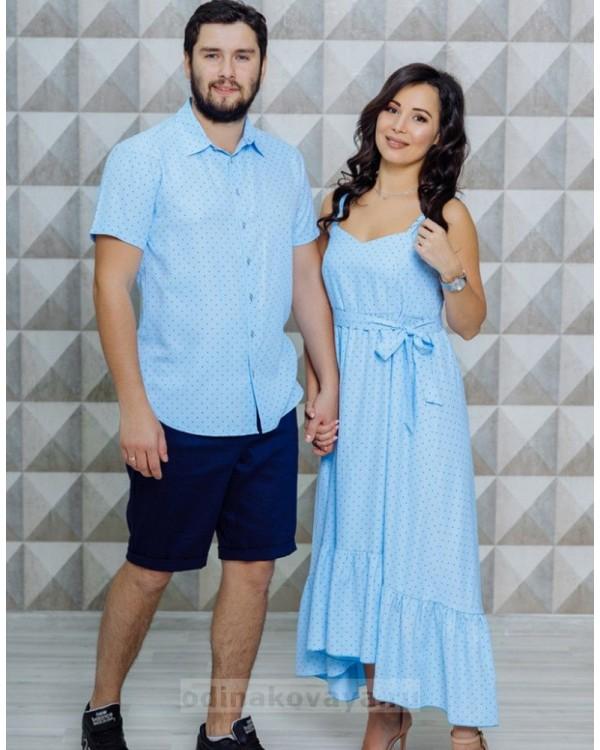 Одинаковая одежда для всей семьи Флорида М-2116 голубой