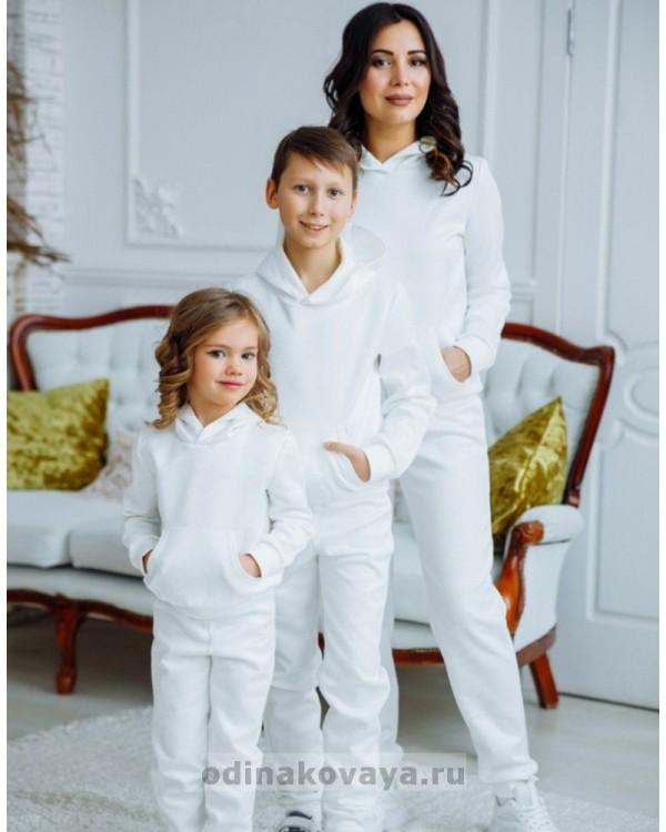 Комплект спортивных костюмов для всей семьи Люкс М-2160 серый