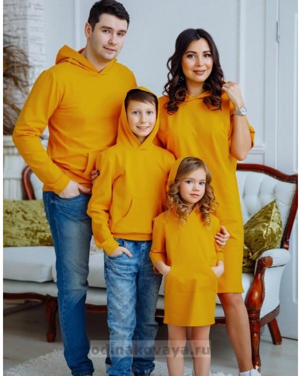 Одинаковая одежда для всей семьи Кейси М 2167 горчица