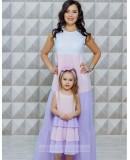 Одинаковые платья для мамы и дочки Майорка М-2118