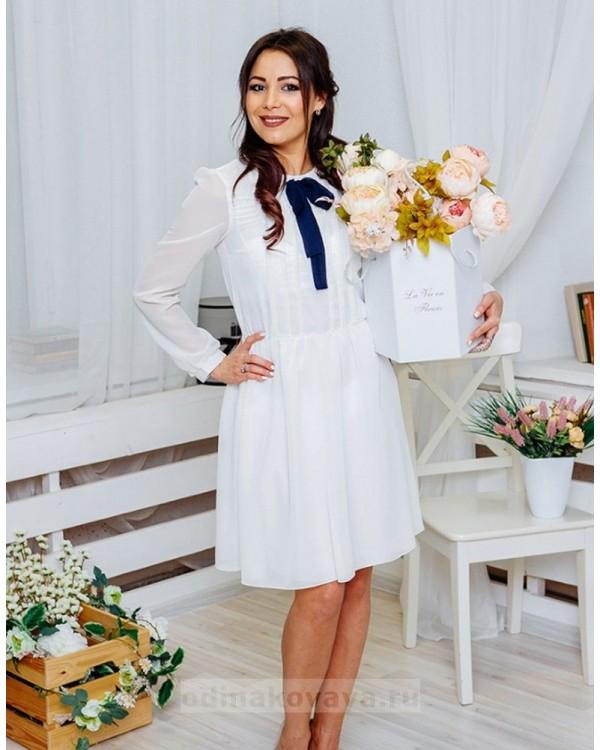 Шифоновое платье Мэри М-1061 цвет белый