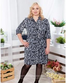 Платье-рубашечного типа Лео PLUS М-1069