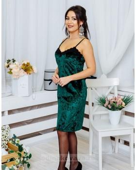 Бархатное платье на бретельках Лолита М-1073