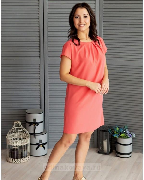Платье на каждый день Будни М-1078 цвет коралловый