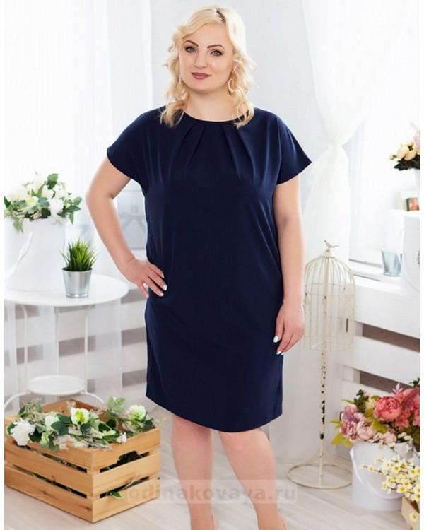 Летнее платье на каждый день PLUS М-1078 цвет синий