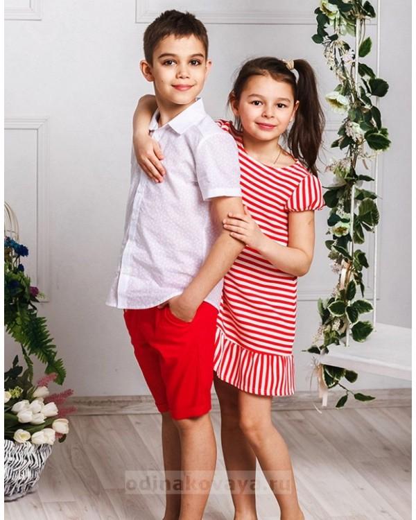 Шорты для мальчика Тропикана М-2015 цвет красный