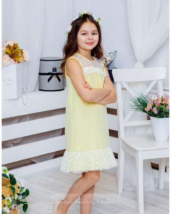 Платье для девочки Суфле М-2060 цвет желтый