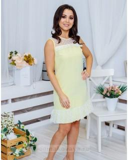Платье с воланом Суфле М-2060