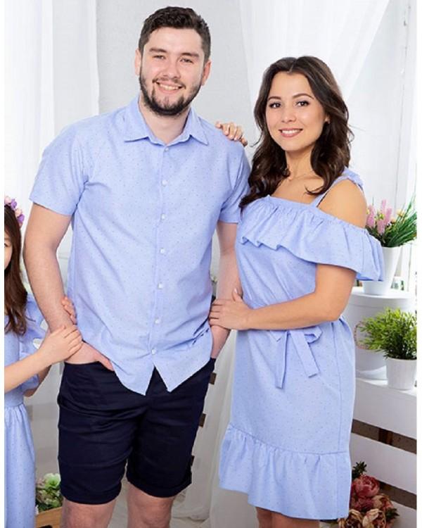 Одинаковая одежда для пары он и она Майями М-2081 цвет голубой