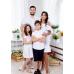Фэмили лук для мамы и сына Майями М-2081 цвет белый