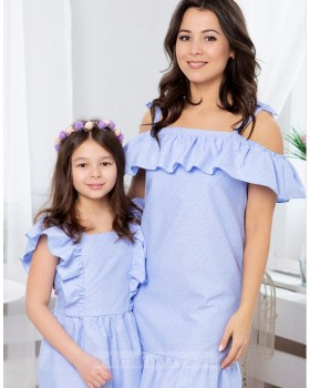 Комплект платьев в одном стиле для мамы и дочки Майями М-2081