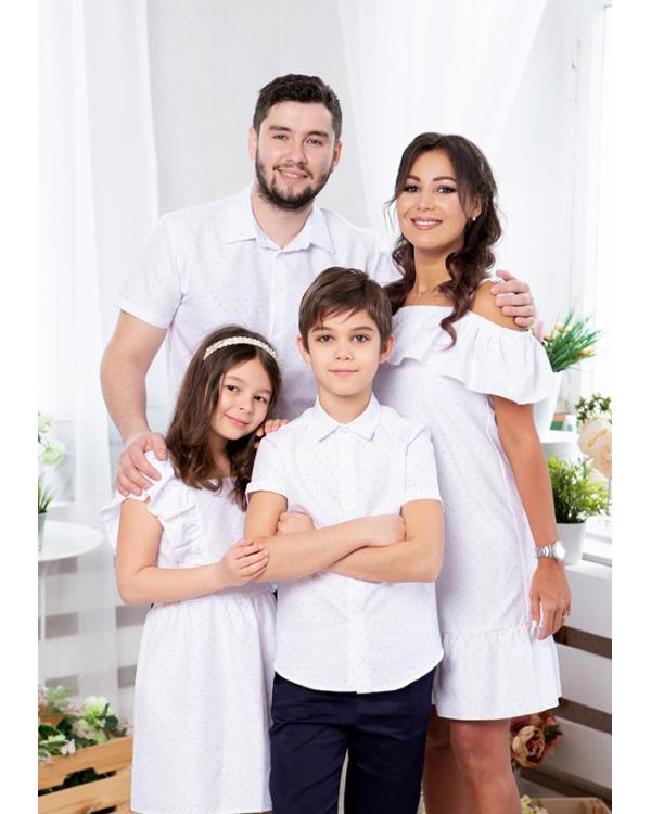 Одинаковая одежда для пары он и она Майями М-2081 цвет белый