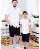 Одинаковые рубашки для папы и сына Майями М-2081