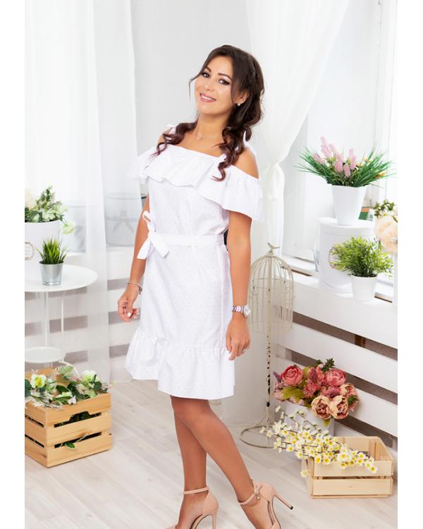 Комплект в стиле family look для всей семьи Майями М-2081 цвет белый