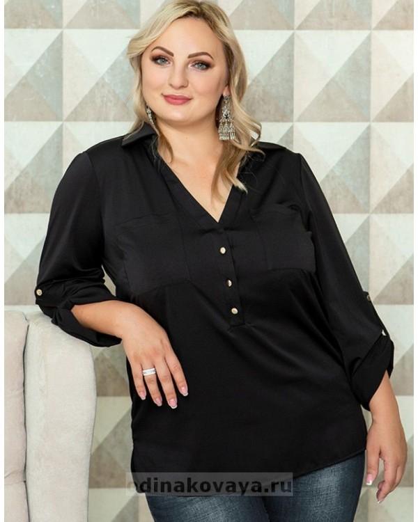 Блуза Фасон PLUS М-1085 черный