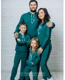 Спортивный костюм для всей семьи в одном стиле Кэжуал М-2090