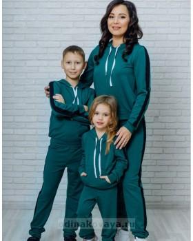 Спортивный костюм для мамы и сына Кэжуал М-2090