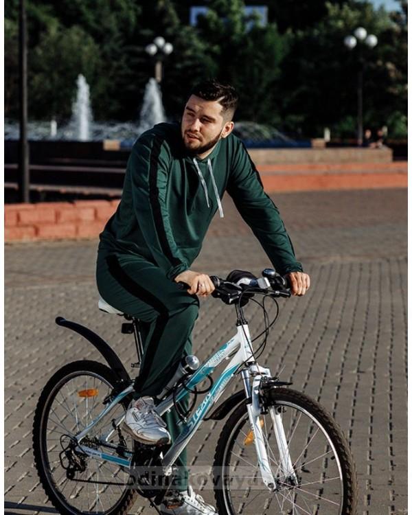 Одинаковые костюмы для папы и сына Кэжуал М-2090 зеленый