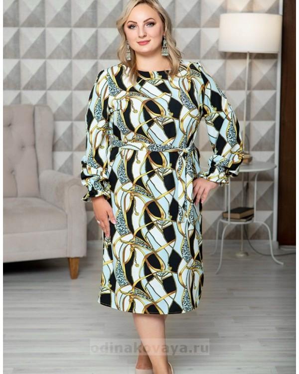 Повседневное платье свободного кроя Эклектика М-1092