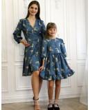 Одинаковые платья для мамы и дочки, КМ2190