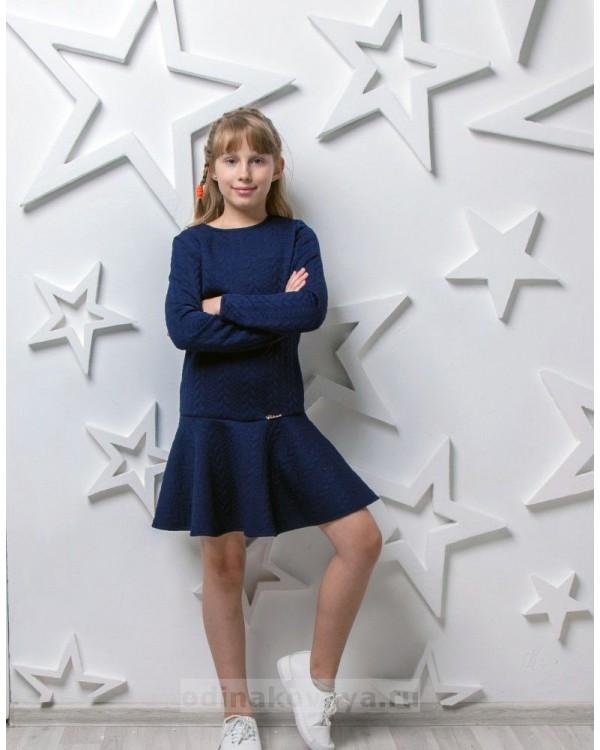 Одинаковые платья для мамы и дочки, КМ2222 синий