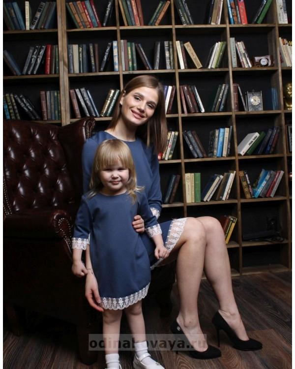 Одинаковые платья для мамы и дочки, КМ2209