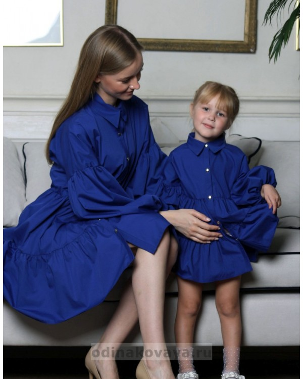 Комплект платьев для мамы и дочки , арт. КМ2173