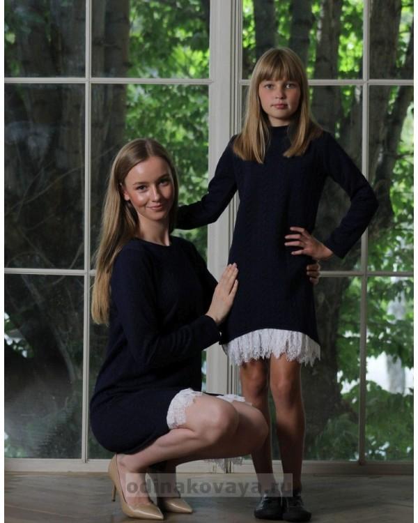 Комплект платьев на осень для мамы и дочки , арт. КМ2175