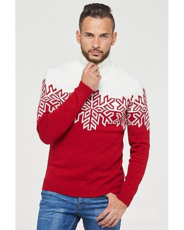 Комплект свитеров для всей семьи СНЕЖИНКИ В ГЛИНТВЕЙНЕ
