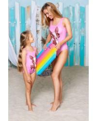 Одинаковые купальники для мамы и дочки